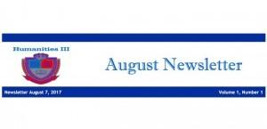 HUM III August Newsletter