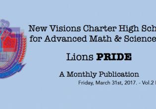 LIONS P.R.I.D.E NEWSLETTER March 31st VOL.2-7