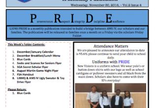 Lions P.R.I.D.E Newsletter Nov 30 Vol.2-4