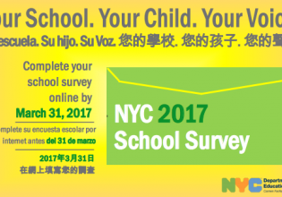 NYC D.O.E 2017 School Survey - Due April 7th